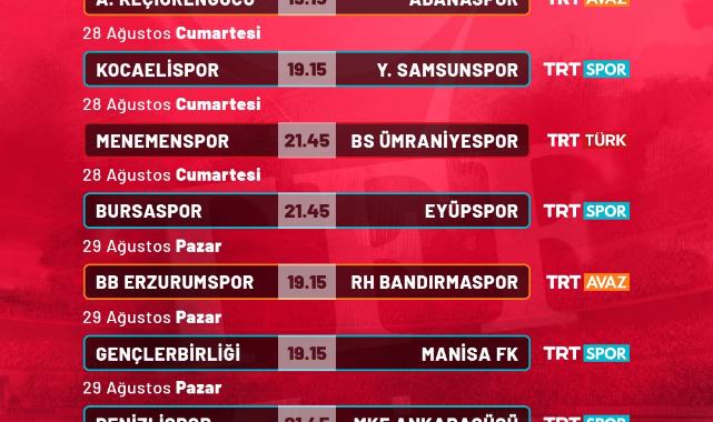 TFF 1. Lig'in 3. Hafta Karşılaşmaları Canlı Yayınla TRT Ekranlarında