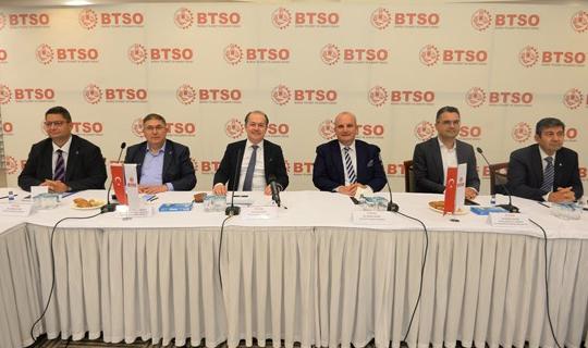 BTSO, Demokrasi ve Atılım Partisi Heyetini Ağırladı
